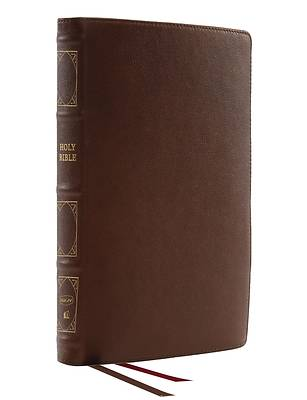 Picture of Nkjv, Thinline Reference Bible, Genuine Leather, Brown, Red Letter, Comfort Print