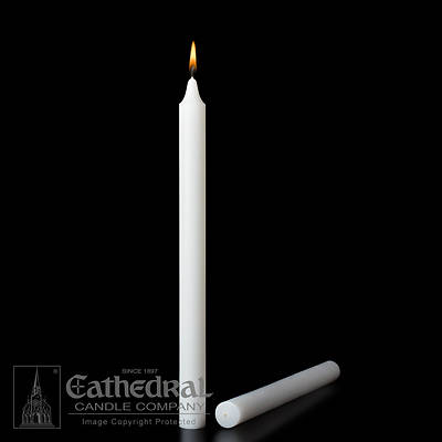 Picture of Stearic Altar Candles Cathedral  12 x 1 1/16 Pack of 18 Plain End
