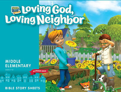 Picture of Deep Blue Connects Middle Elementary Bible Story Sheets Summer 2020