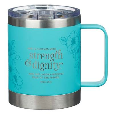 Picture of Stainless Steel Mug She Is Clothed with Strength Proverbs 31
