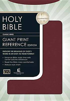 King James Version Giant Print Reference Bible
