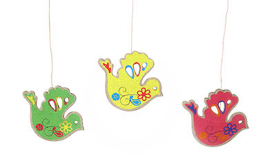 Picture of Paper Dove Ornament - Various Colors