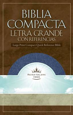 Rvr 1960 Large Print Compact Quick Reference Bible - Denim