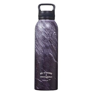 Picture of Stainless Steel Water Bottle Be Strong & Courageous Joshua 1