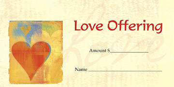Picture of (Love Offering) Offering Envelope (Package of 100)