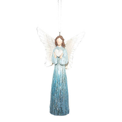 Picture of Angel Blue with Heart Ornament