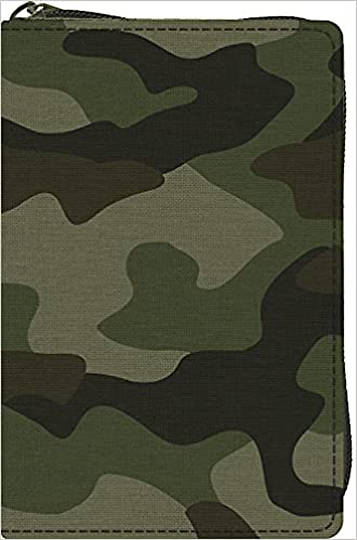 Picture of ESV Compact Bible (Canvas with Zipper, Camo Design)