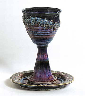 Picture of Crown of Thorns Earthenware Paten and Chalice