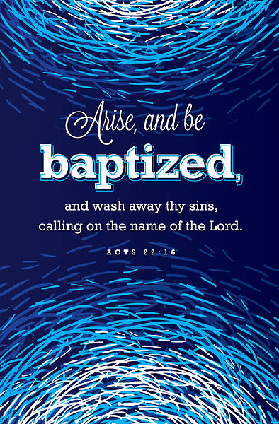Arise and be Baptized Baptism Regular Size Bulletin