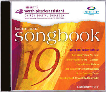 Hosanna! 19  Worship Leader Assistant Songbook on CD-ROM