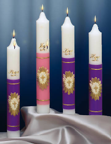Spirit of Christmas Advent Candle (3 Purple/1 Pink) (set of 4)