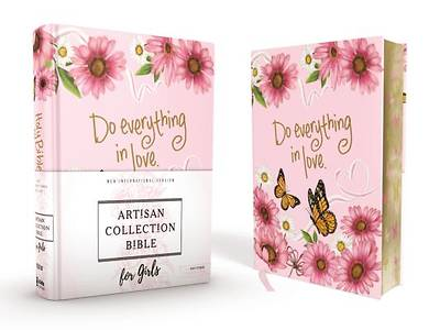 Picture of NIV Artisan Collection Bible for Girls, Cloth Over Board, Pink Daisies, Designed Edges Under Gilding, Red Letter Edition, Comfort Print
