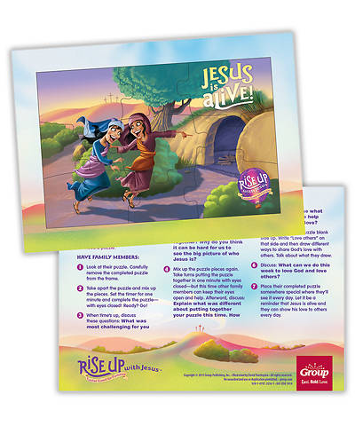 Rise Up With Jesus: Puzzle (10/pkg)
