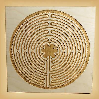 Chartres-Style Wood Labyrinth - 12 x 12