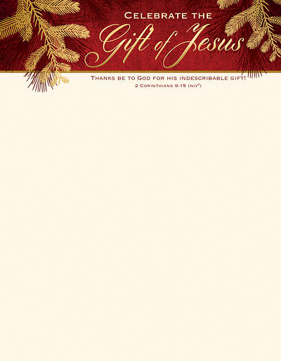 Picture of Celebrate the Gift of Jesus Christmas Letterhead