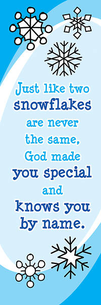 Picture of Just Like Two Snowflakes Christmas Bookmark