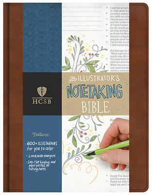 Picture of HCSB Illustrator's Notetaking Bible, British Tan, Leathertouch
