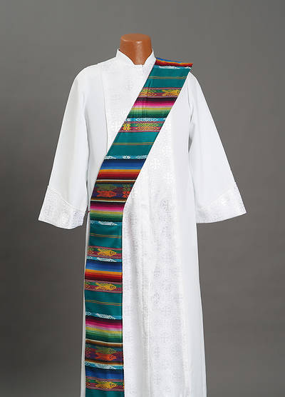 Picture of Fair Trade Green Red Reversible Deacon Stole