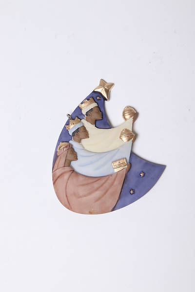 Flat-Style Resin Three Kings Ornament