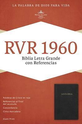 Picture of Rvr 1960 Biblia Letra Grande Con Referencias, Negro Imitacion Piel