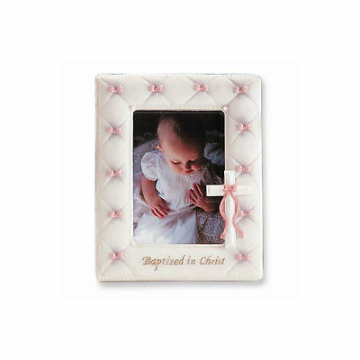 """Picture of Baptism Baby Girl Photo Frame 7"""""""