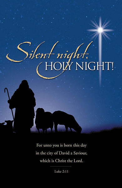 Silent Night Christmas Bulletin, Regular (Package of 100)