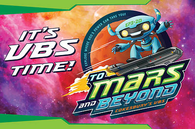 Picture of Vacation Bible School (VBS) To Mars and Beyond Invitation Postcards (Pkg of 24)