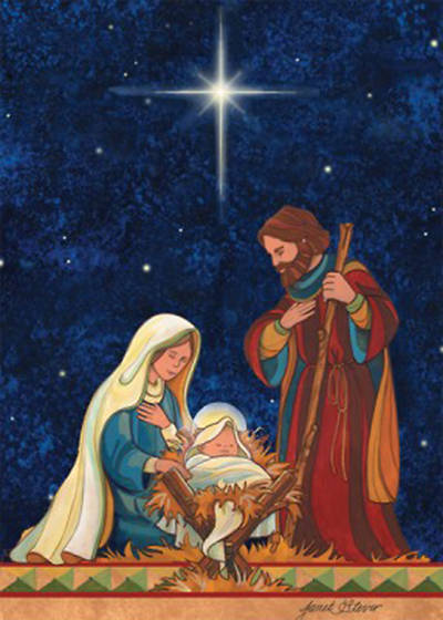 Boxed Card Christmas Holy Family 12 Pack