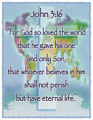 Picture of Chart John 3:16