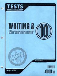 Writing & Grammar 10 Testpack Answer Key 3rd Edition