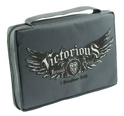 Victorious Large Grey Bible Cover