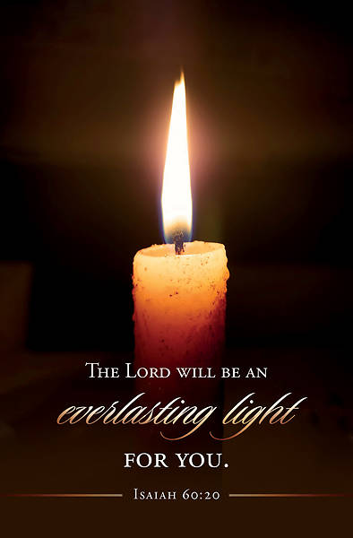 Picture of Candle Lighting Isaiah 60:20 Bulletin Regular