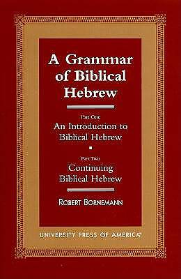Picture of A Grammar of Biblical Hebrew