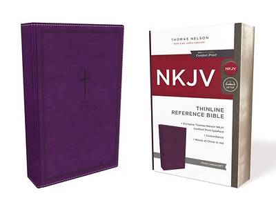 NKJV, Thinline Reference Bible, Imitation Leather, Purple, Red Letter Edition, Comfort Print