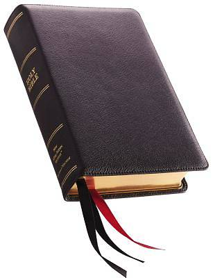 NKJV, Single-Column Reference Bible, Premium Leather, Black, Sterling Edition, Comfort Print