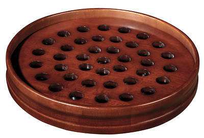 Maple Communion Tray - Walnut Finish