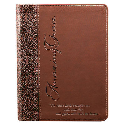 Brown Amazing Grace Luxleather Journal