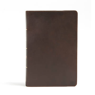 Picture of CSB Giant Print Reference Bible, Black Genuine Leather