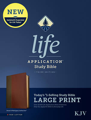 Picture of KJV Life Application Study Bible, Third Edition, Large Print (Red Letter, Leatherlike, Brown/Mahogany)