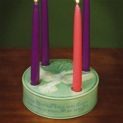 Dove Advent Candleholder