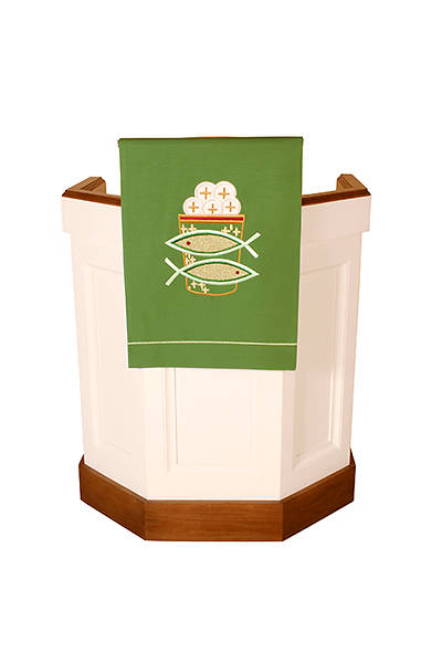 Abbott Hall Vision Series N5349A Green Ordinary Time Pulpit/Lectern Scarf