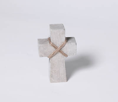 Picture of Paulownia Wood Standing Cross - Small - Gray Finish