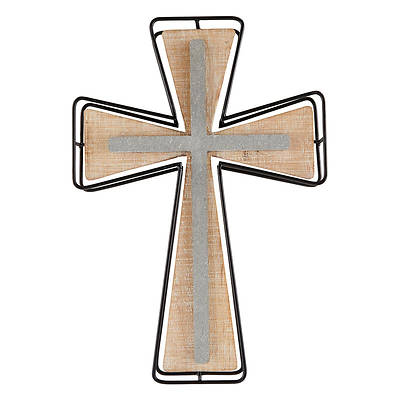 Picture of Metal Frame Cement Wall Cross