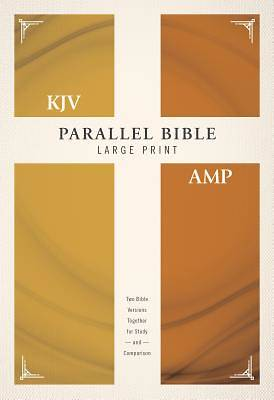 Picture of KJV, Amplified, Parallel Bible, Large Print, Hardcover, Red Letter Edition