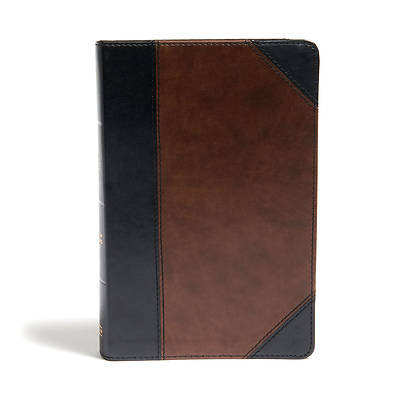 Picture of CSB Large Print Personal Size Reference Bible, Black/Brown Leathertouch