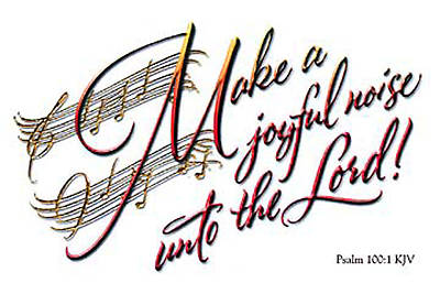 Picture of Calligraphy: Make a Joyful Noise Postcard (Package of 25)