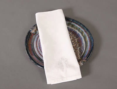 100% Cotton Bread Plate Napkin with Wheat/Grapes