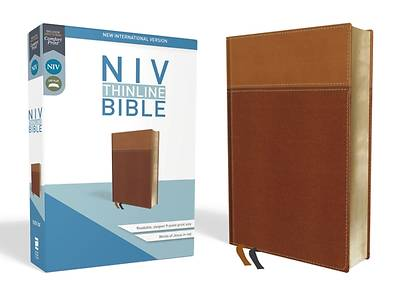 Picture of NIV, Thinline Bible, Imitation Leather, Tan, Red Letter Edition