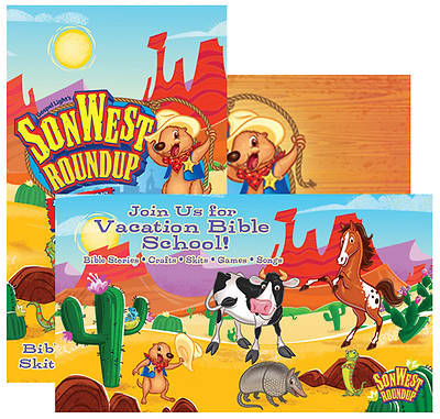 Gospel Light Vacation Bible School 2013 SonWest RoundUp Postcards (Pkg 24)