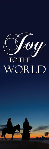 "Nativity Series Joy to the World Banner 18"" x 60"""